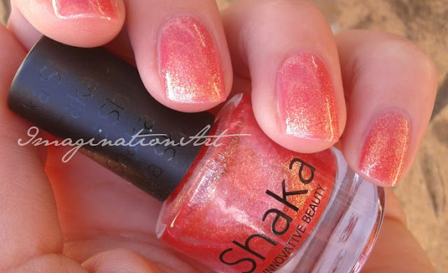 Shimmer Orange  Shaka ref  435 swatches swatch review smalto unghie nail polish lacquer