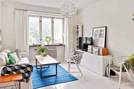 ruang tamu mewah gaya skandinavia nyaman dan menawan 2014