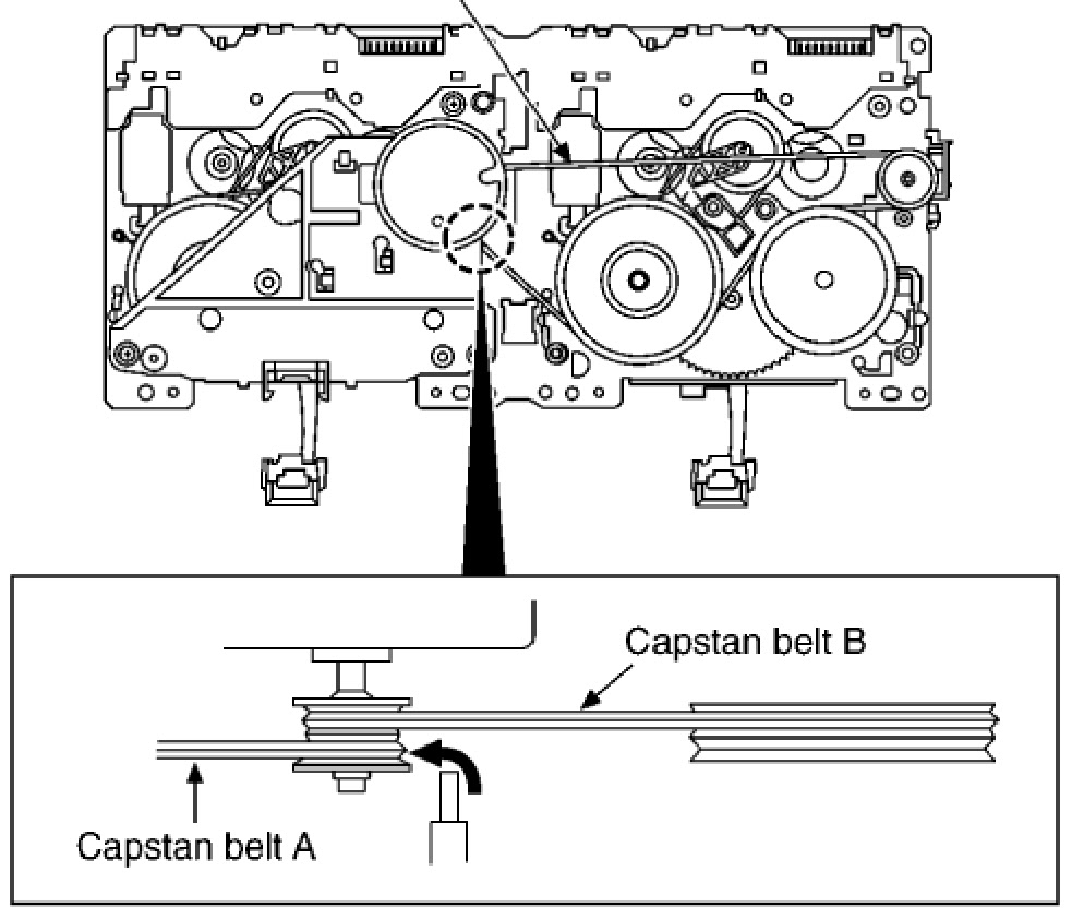 panasonic sa ak630 - how to replace belts - capstan belt