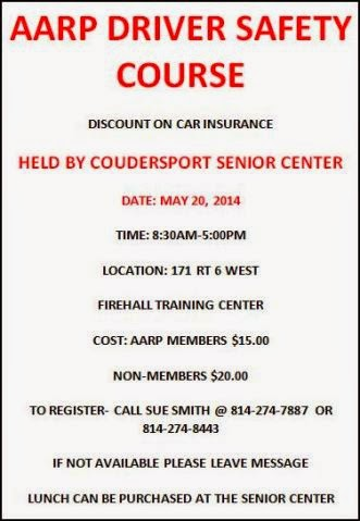 5-20 AARP Driver Safety Course