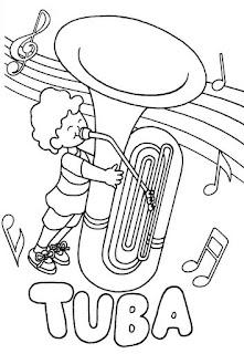 Tuba para colorear