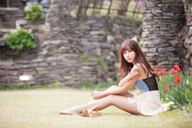 4 Cheon Bo Young Outdoor -Very cute asian girl - girlcute4u.blogspot.com
