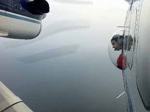 Christin Khan Observing from Twin Otter