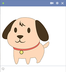 Perky puppy Facebook sticker
