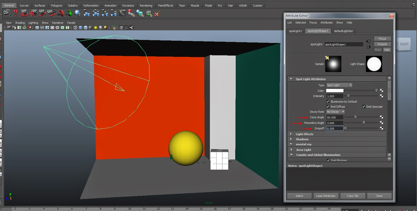 GI Render Setting in Maya 03