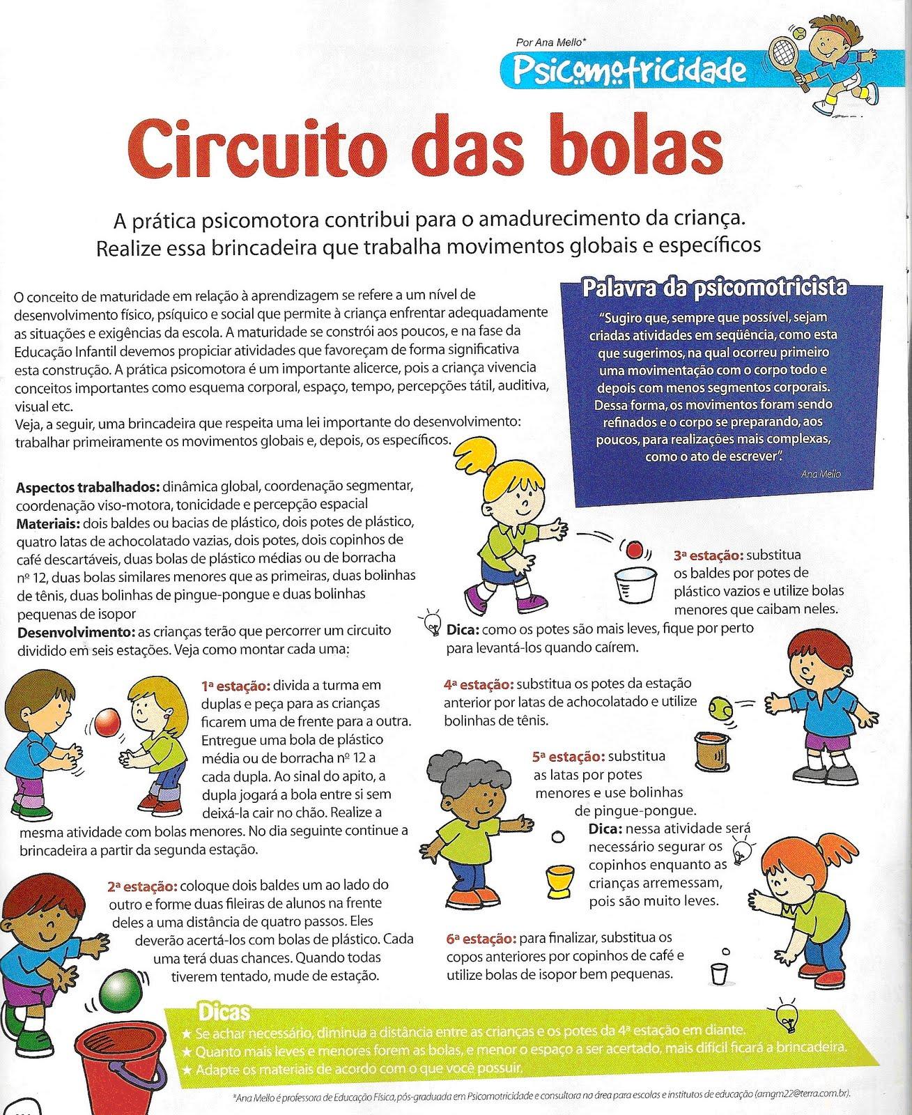 Favoritos O mundo encantado da educação infantil: Atividades psicomotoras na  HG81