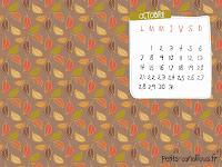 fond d'écran et calendrier octobre