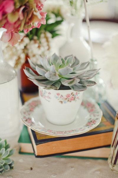 Decoraci n con tazas vintage for Decoracion con tazas de cafe