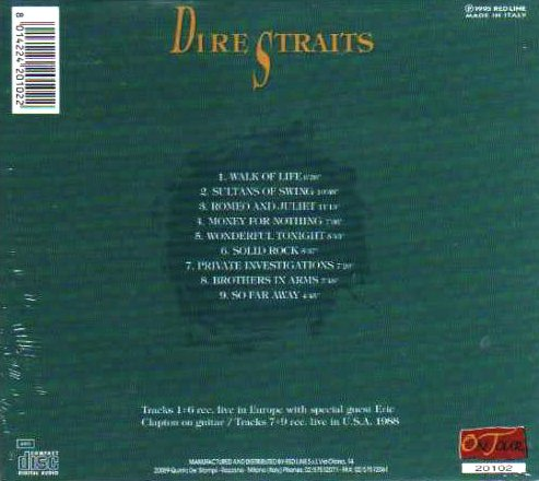 World of bootlegs bootleg dire straits ft eric clapton for Top songs of 1988