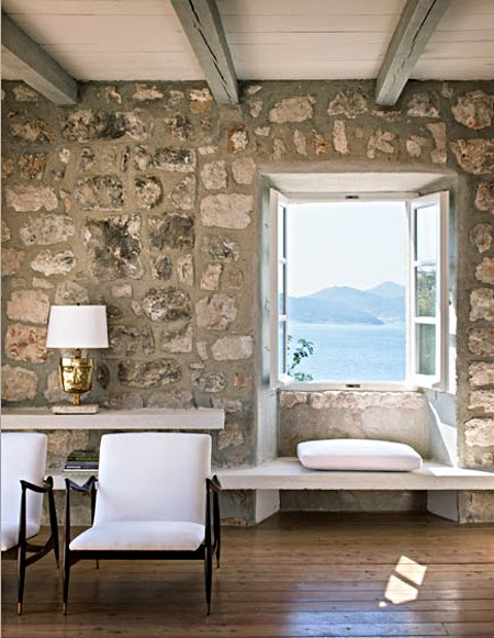 Pebbles Not Enough Lets Amp Up The Space With Stone On Walls This Is Such A Great Look And Adds Richness To
