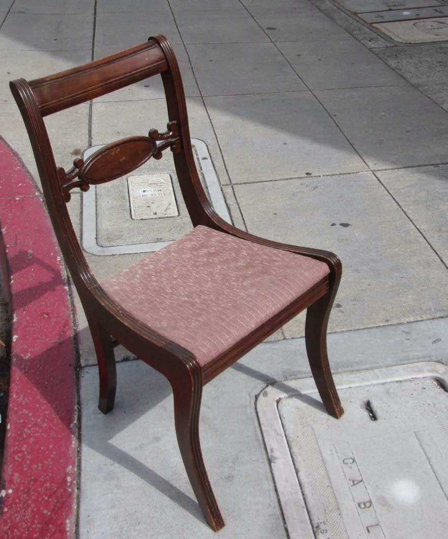 UHURU FURNITURE COLLECTIBLES SOLD Vintage Armless Chair
