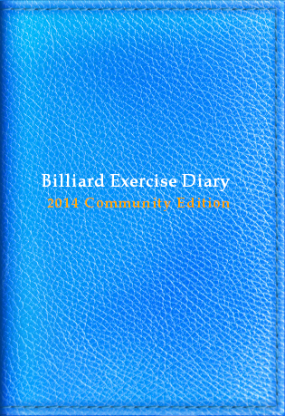Billiard Exercise Diary 2014, Community Edition, Pastel Blue, Billiard Practice Software