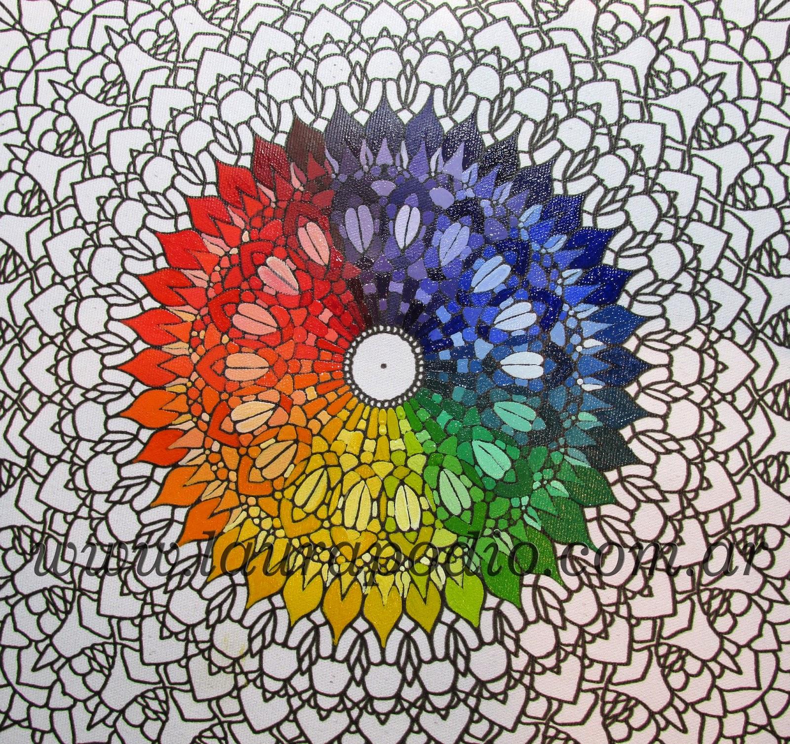 MANDALAS PASO A PASO un ejemplo de color ARTE TERAPIA CON