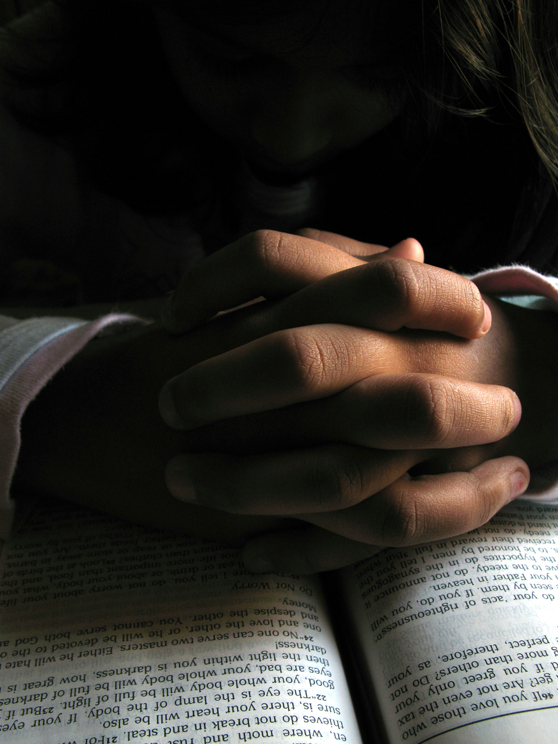Praying with bible