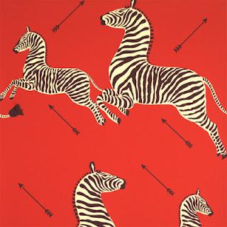 vintage 1940s zebra wallpaper Scalamandre