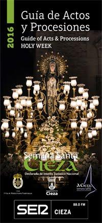 GUIA DE ACTOS Y PROCESIONES , SEMANA SANTA 2.016