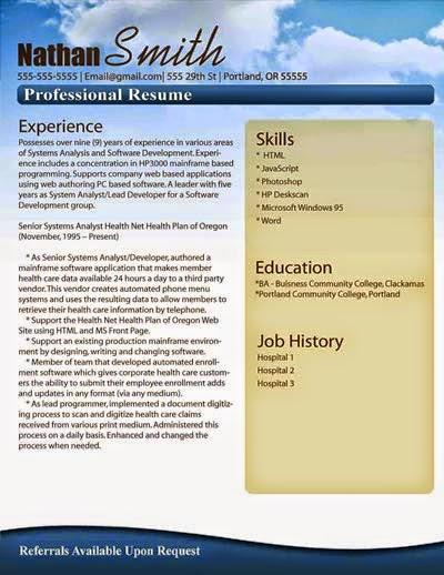 Customized resume templates