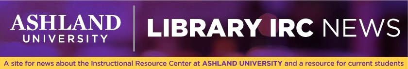 Instructional Resource Center, Ashland University Library