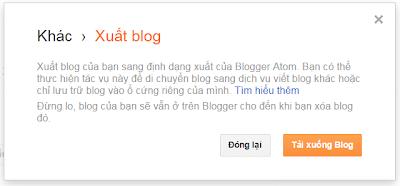 [Tips] - 3 bước để Backup dữ liệu của Blogger Blogspot