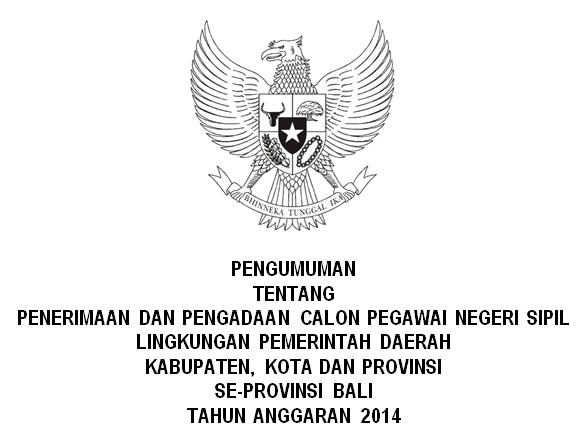 List Penerimaan CPNS Se-Provinsi Bali