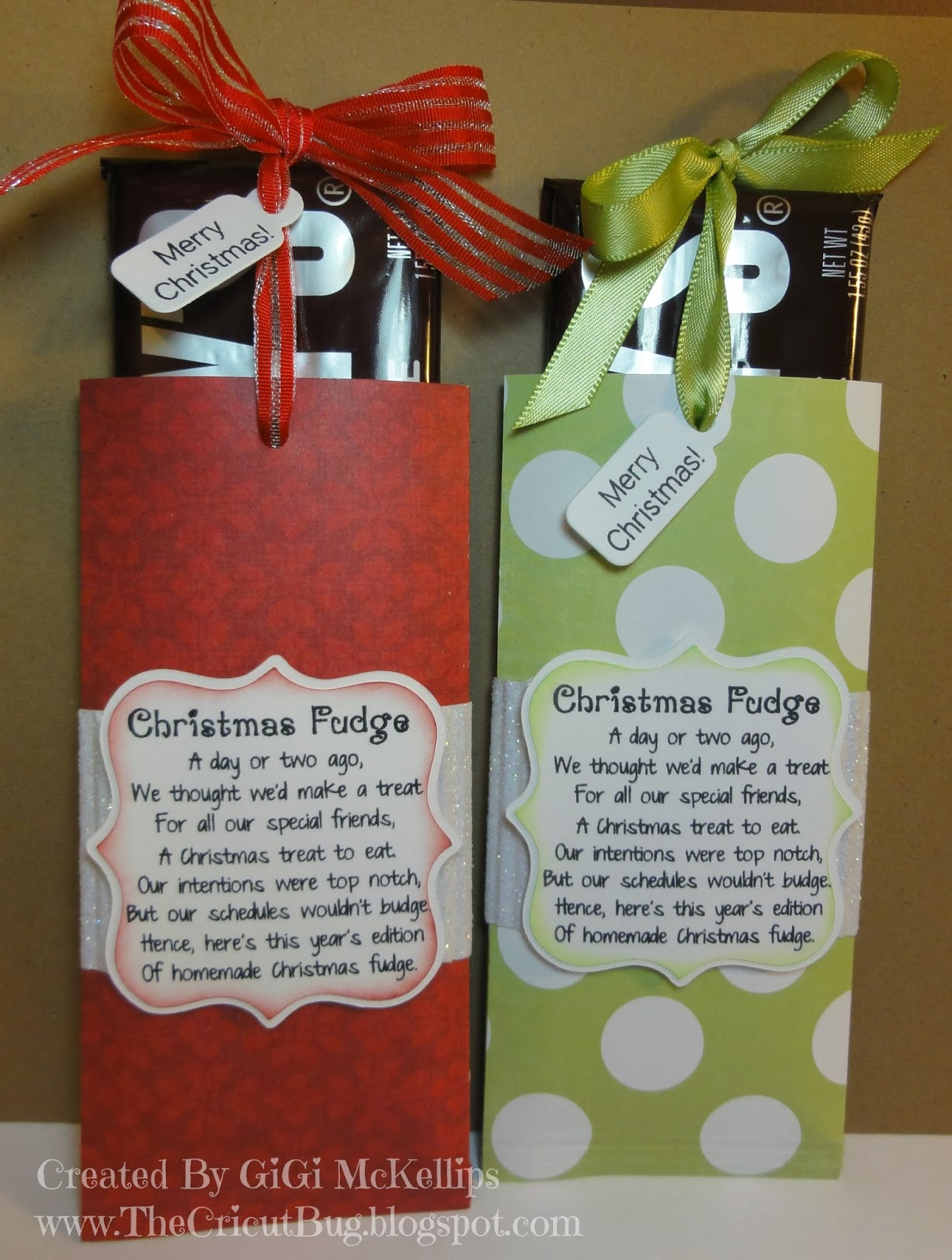 The cricut bug christmas fudge for Best cheap christmas gifts for friends