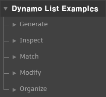Dynamo List Usage Examples