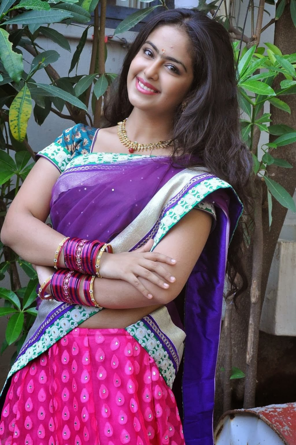 Avika Gor latest stills in half saree photos