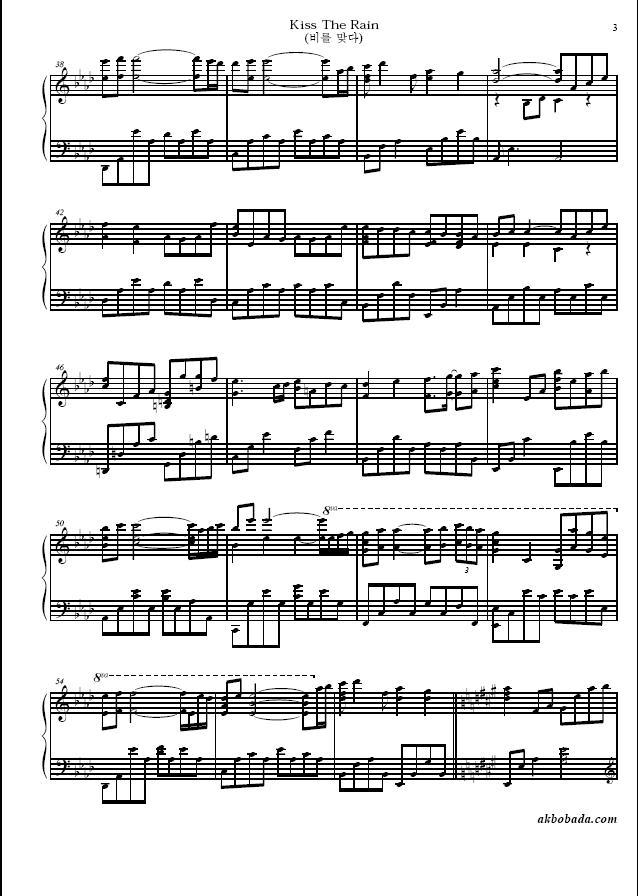 Related Wallpapers All Sheets Yiruma Kiss The Rain Piano