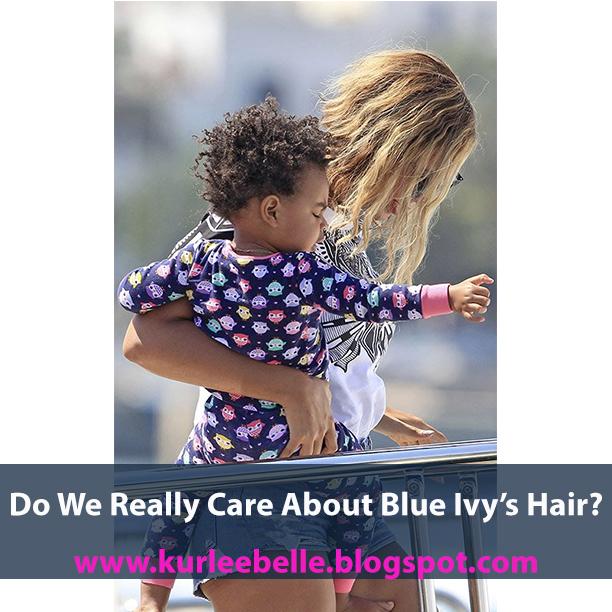 kurlee belle natural hair blue