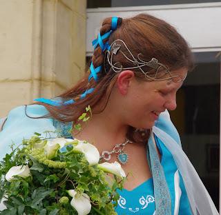 Diadème Frondaisons porté lors d'un mariage