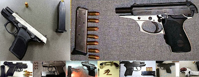 (Top to Bottom - Left to Right) Guns Discovered at TUL, JAX, HOU, IAH, LBB, SDF, PHX, PDX, TUL