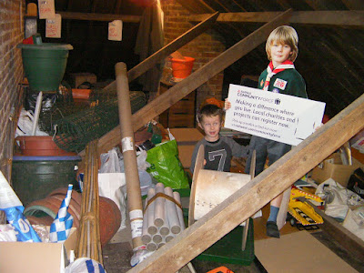 loft attic full of clutter in storage