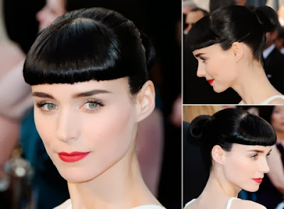 Rooney Mara short haircut with bangs