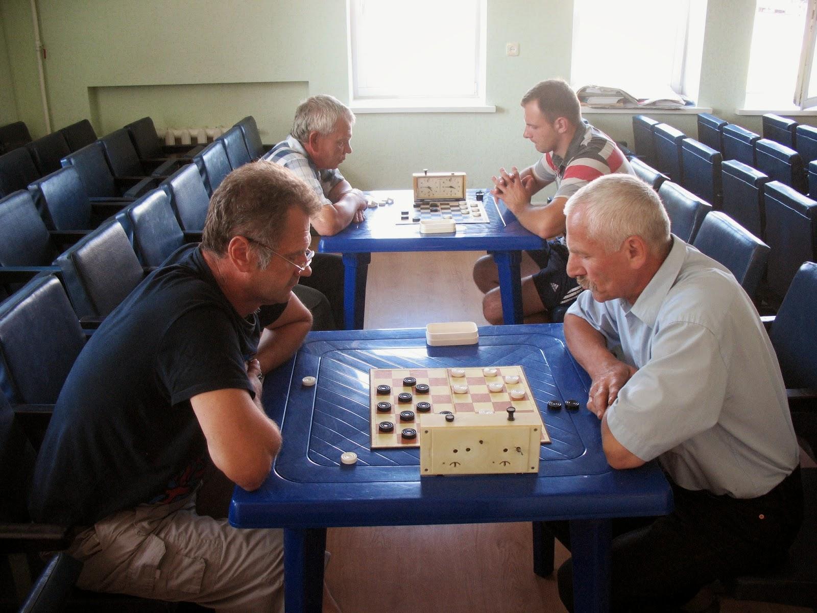 Участники турнира по шашкам