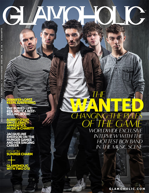 Capa da revista Glamoholic the wanted