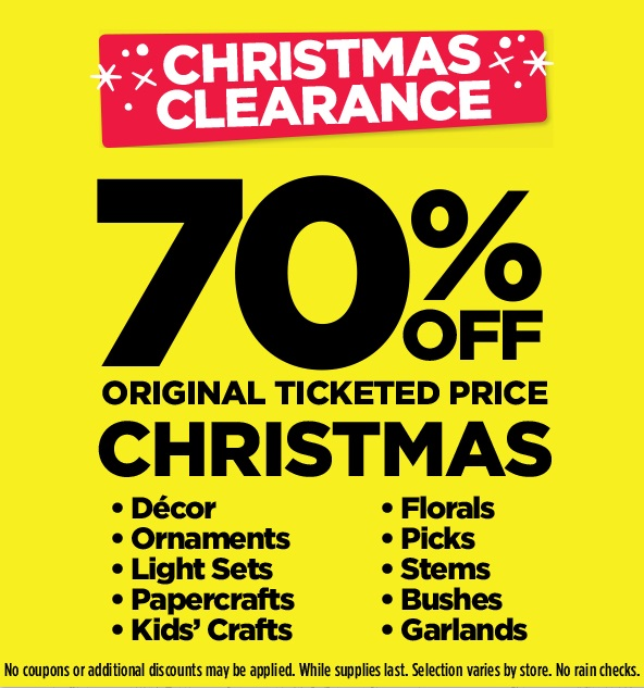 Michaels After Christmas Clearance 2015: Save 70% Off Regular ...