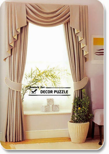 Modern french curtains designs, Beige window curtains