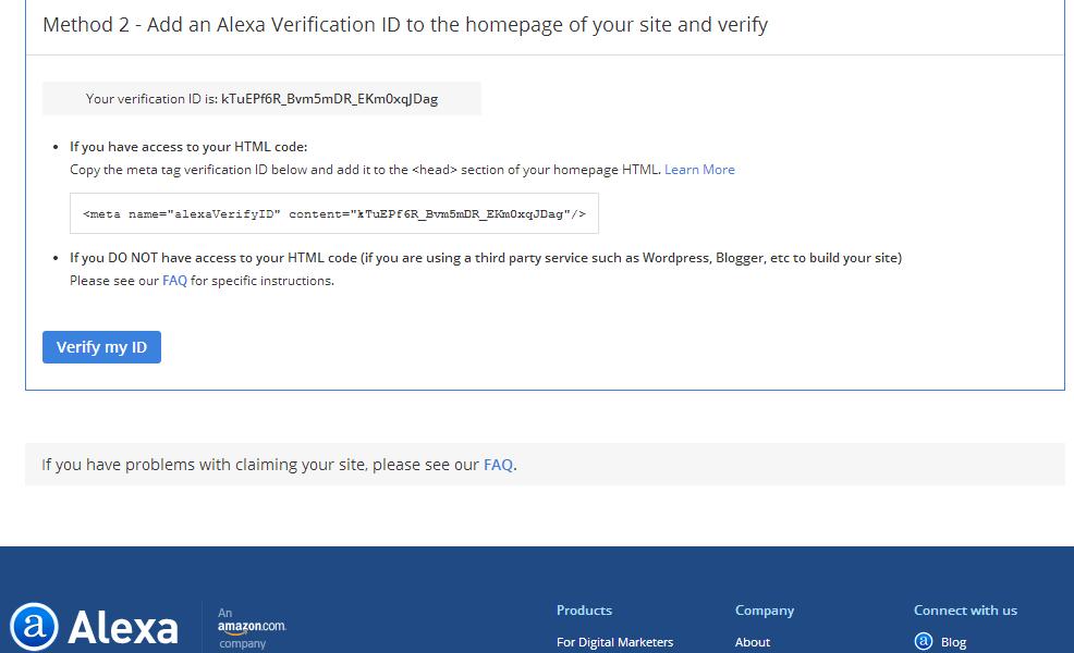 Cara Mengklaim Blog dan Websitee di Alexa 5