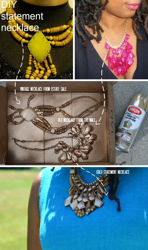 spray painting jewelry