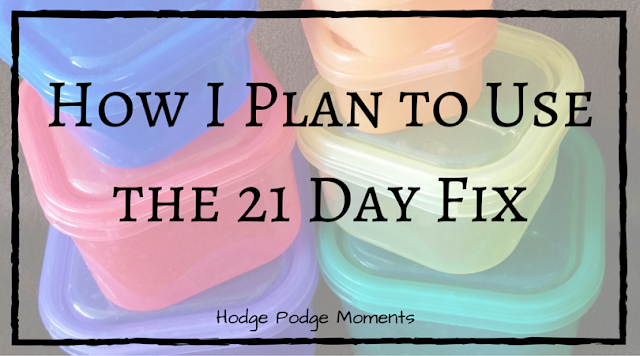 How I Plan to Use the 21 Day Fix Program
