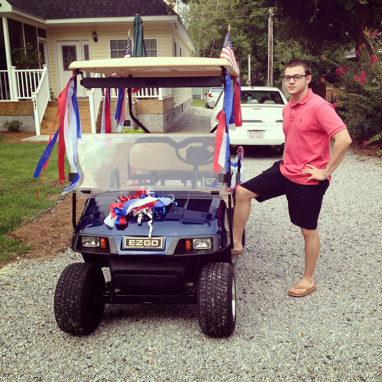 4th of July, golf cart, independence day
