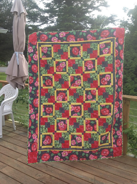 five fabric quilt