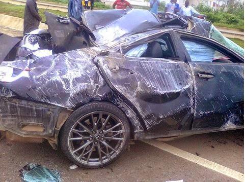 Car crash scene that killed El-rufai's son Hamza