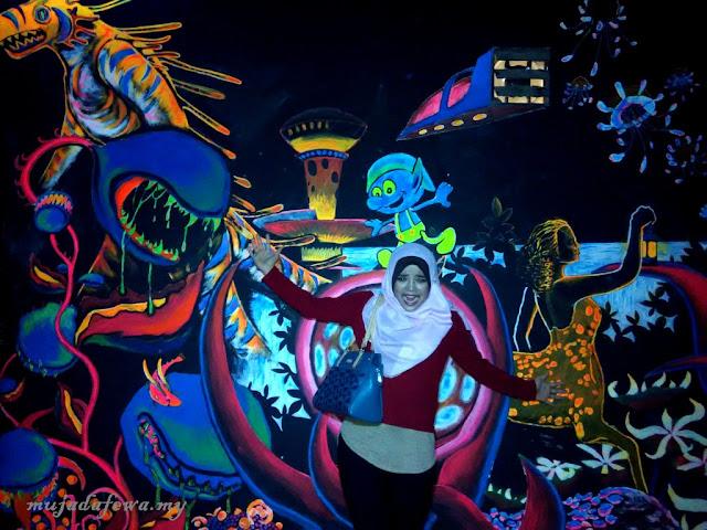 Tempat Menarik Pulau Pinang, Penang Time Tunnel, 3D Mural Art Street, street art penang