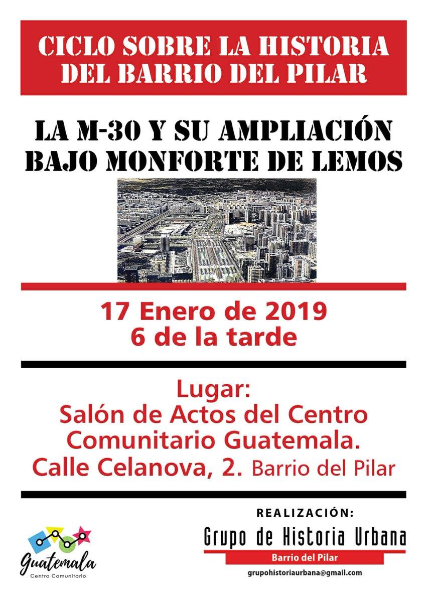 17 enero Charla Historia del Barrio del Pilar