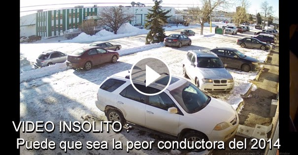 VIDEO INSOLITO - Puede que sea la peor conductora del 2014