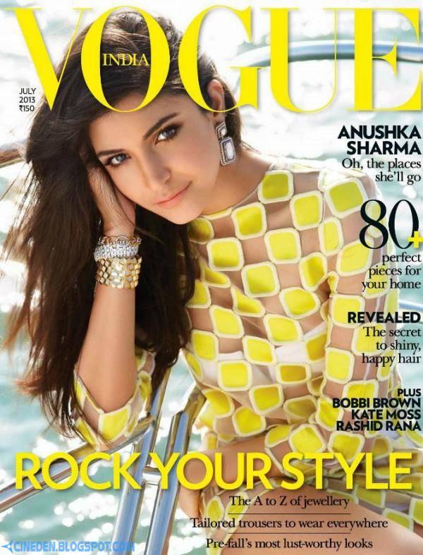 Anushka Sharma on Vogue India Magazine July 2013 - CineDen