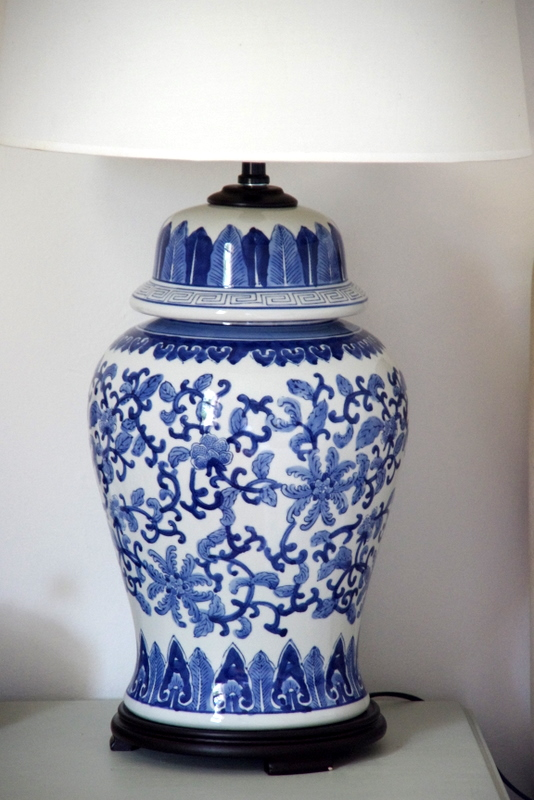 The Chair Depository: SURPRISE FIND: BLUE & WHITE LAMPS