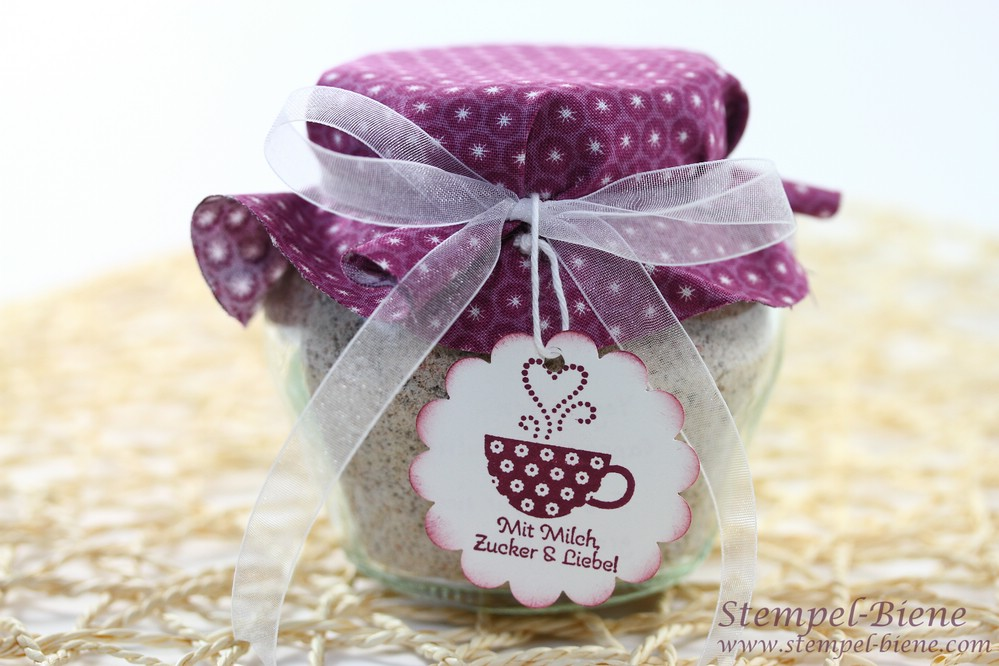 Stempel biene framelits kreis kollektion und marmeladengl ser - Marmeladenglaser dekorieren ...