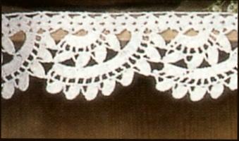 Professione donna bordi per mensole all 39 uncinetto for Schemi bordure uncinetto per mensole